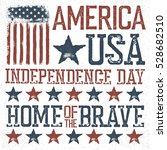 independence day label for... | Shutterstock . vector #528682510