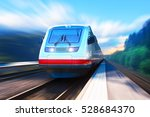 creative railroad travel and... | Shutterstock . vector #528684370