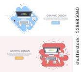 graphic design concept modern... | Shutterstock .eps vector #528685060