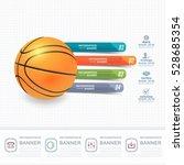 basketball ball infographics... | Shutterstock .eps vector #528685354