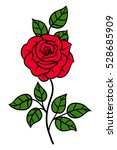 flowers roses  red buds and... | Shutterstock .eps vector #528685909