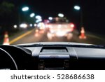 in the car at night  blur image ... | Shutterstock . vector #528686638