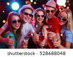 group of happy young people at... | Shutterstock . vector #528688048