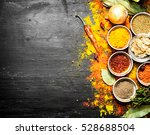 big set of indian spices and... | Shutterstock . vector #528688504