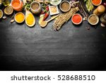 big set of indian spices and... | Shutterstock . vector #528688510