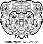 monochrome drawing of a... | Shutterstock .eps vector #528691954