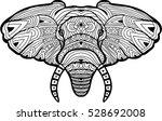 monochrome hand drawn ink... | Shutterstock .eps vector #528692008