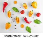 fresh vegetables on white... | Shutterstock . vector #528693889