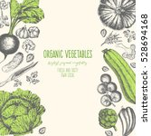 organic food card design.... | Shutterstock .eps vector #528694168