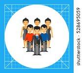 people as team development... | Shutterstock .eps vector #528695059
