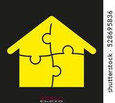 puzzle  house  icon  vector... | Shutterstock .eps vector #528695836