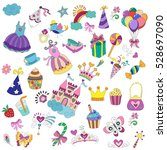 child background for princesses ... | Shutterstock .eps vector #528697090