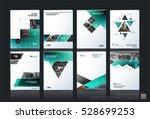 business vector set. brochure... | Shutterstock .eps vector #528699253