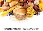 assortment of tasty food on... | Shutterstock . vector #528699349