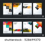 business vector set. brochure... | Shutterstock .eps vector #528699370