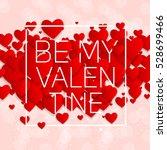 valentine's day heart symbol.... | Shutterstock .eps vector #528699466