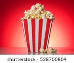 square red and white striped... | Shutterstock . vector #528700804