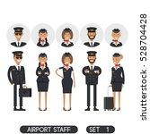 airport staff set 1....   Shutterstock .eps vector #528704428
