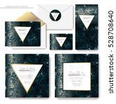 set of shiny wedding cards.... | Shutterstock .eps vector #528708640