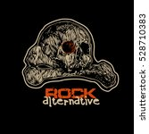 design t shirt rock alternative ... | Shutterstock .eps vector #528710383