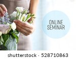female florist with flowers ... | Shutterstock . vector #528710863