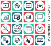 set of 16 seo icons. can be... | Shutterstock .eps vector #528713434