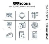 set of 9 project management...   Shutterstock .eps vector #528713443