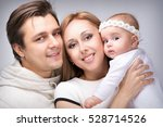 family with a small child four... | Shutterstock . vector #528714526