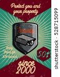 color vintage security poster | Shutterstock .eps vector #528715099