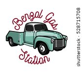 Color Vintage Gas Station Emblem