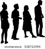 full length of silhouette... | Shutterstock .eps vector #528722590