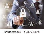business button lock security... | Shutterstock . vector #528727576