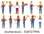 painter in uniform holding a... | Shutterstock .eps vector #528727996