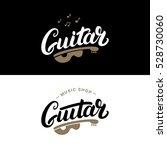 Set Of Guitar Shop Hand Writte...