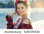 portrait of beautiful and... | Shutterstock . vector #528739330