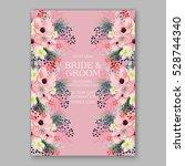 wedding invitation floral... | Shutterstock .eps vector #528744340