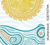 sea and sun. vector... | Shutterstock .eps vector #528745744