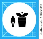 potted plant with shovel | Shutterstock .eps vector #528758350