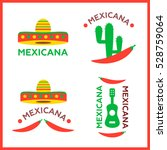 mexican food logo. mexican fast ... | Shutterstock .eps vector #528759064