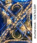 road traffic in city at... | Shutterstock . vector #528761389