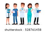 team doctors on a white... | Shutterstock .eps vector #528761458
