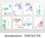 geometric background template... | Shutterstock .eps vector #528761734