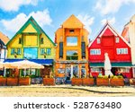 old houses  circa xix c.  on... | Shutterstock . vector #528763480