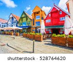 old houses  circa xix c.  on... | Shutterstock . vector #528764620