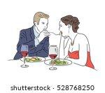 loving couple in restaurant.  | Shutterstock .eps vector #528768250