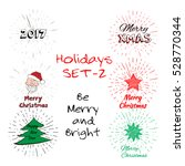 holidays set of free typography ... | Shutterstock .eps vector #528770344