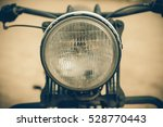 focus on a headlamp. retro... | Shutterstock . vector #528770443