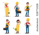 set of of working professions....
