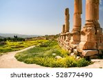 jerash is the site of the ruins ... | Shutterstock . vector #528774490