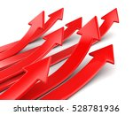3d illusration. arrows up.... | Shutterstock . vector #528781936